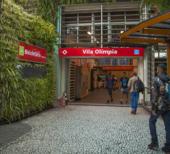 Estação Sustentável, da Vila Olímpia, na cidade de São Paulo, projeto batizado de Trilhos Verdes, recém-inaugurado em parceria com o Santander (crédito: divulgação)